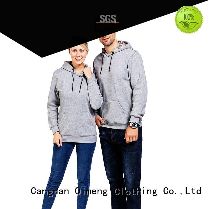 QiMeng popular hip hop hoodies with many colors for outdoor activities