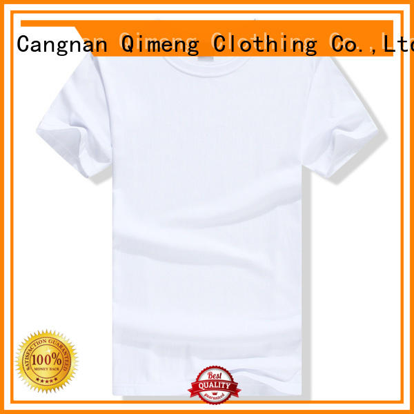 blank coton t-shirts short for promotional campaigns QiMeng