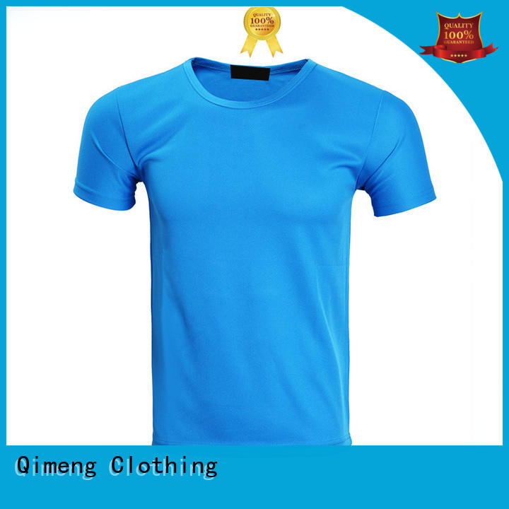 QiMeng new-selling plain t-shirts supplier for outdoor activities