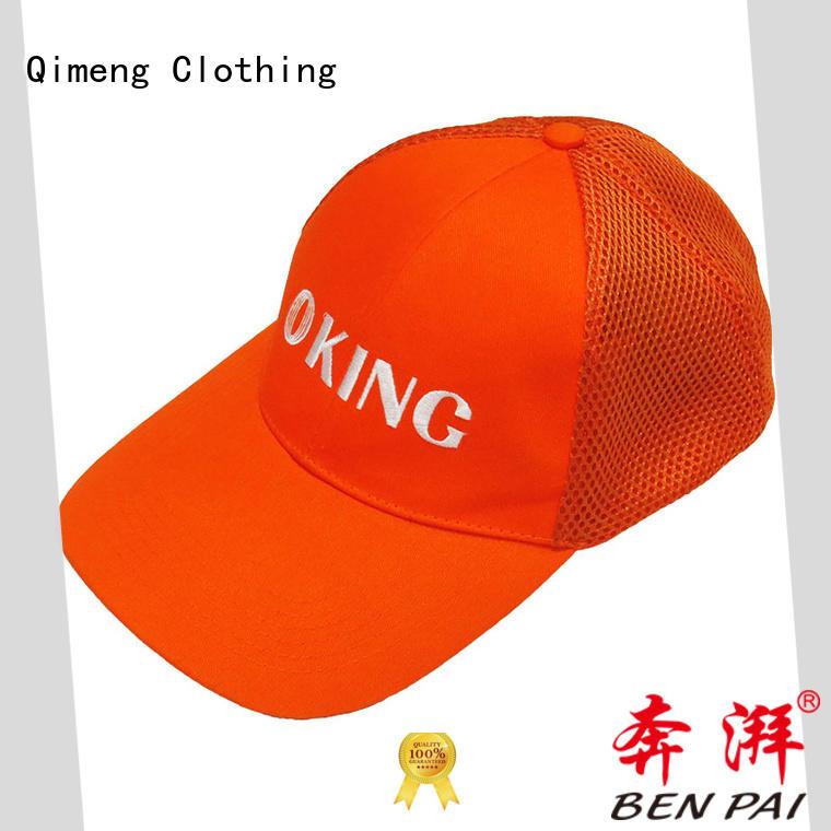 QiMeng modern custom baseball cap factory price for sporting