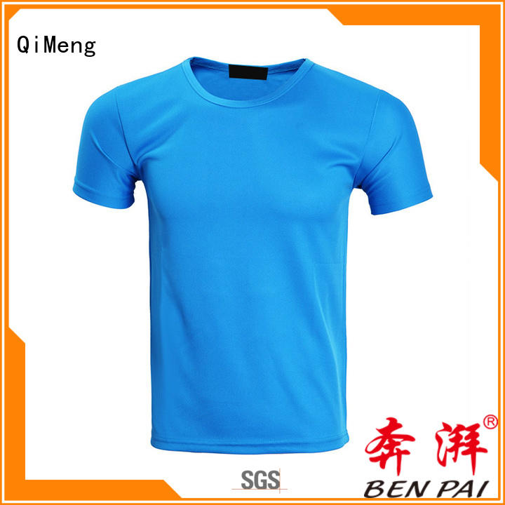 QiMeng printed personalized t shirt in different color for outdoor activities