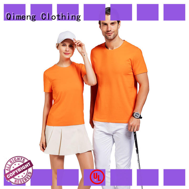 QiMeng bulk personalized t shirt in different color for promotional campaigns
