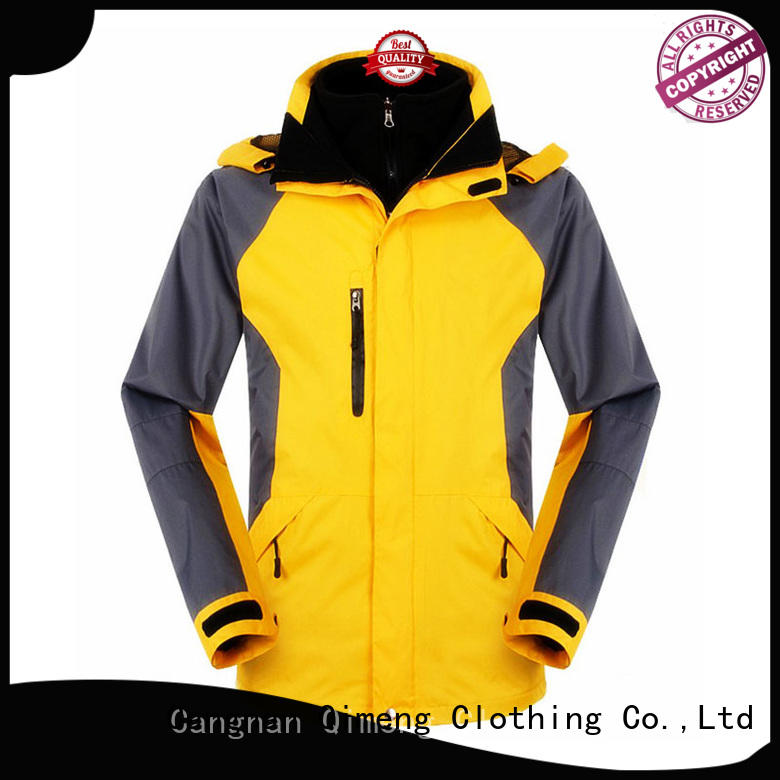 QiMeng breathable waterproof winter jacket factory in spring