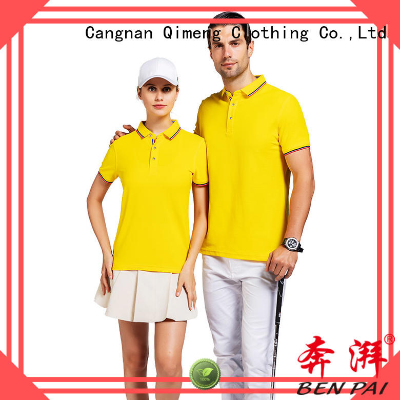 QiMeng plus polo design shirt producer for daily wear