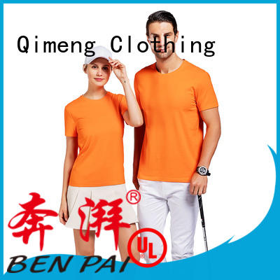 QiMeng printing o neck t shirt on sale for sporting