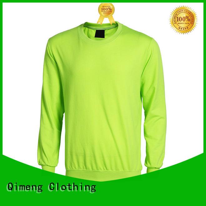QiMeng oem hoodies sweatshirts men for outdoor activities
