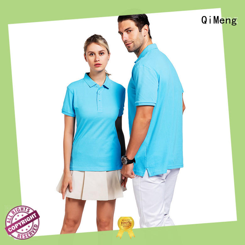 QiMeng sleeve polo design shirt with many colors  for leisure travel