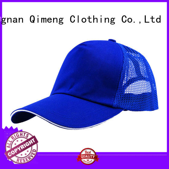 QiMeng logo-printed sports cap factory price in school