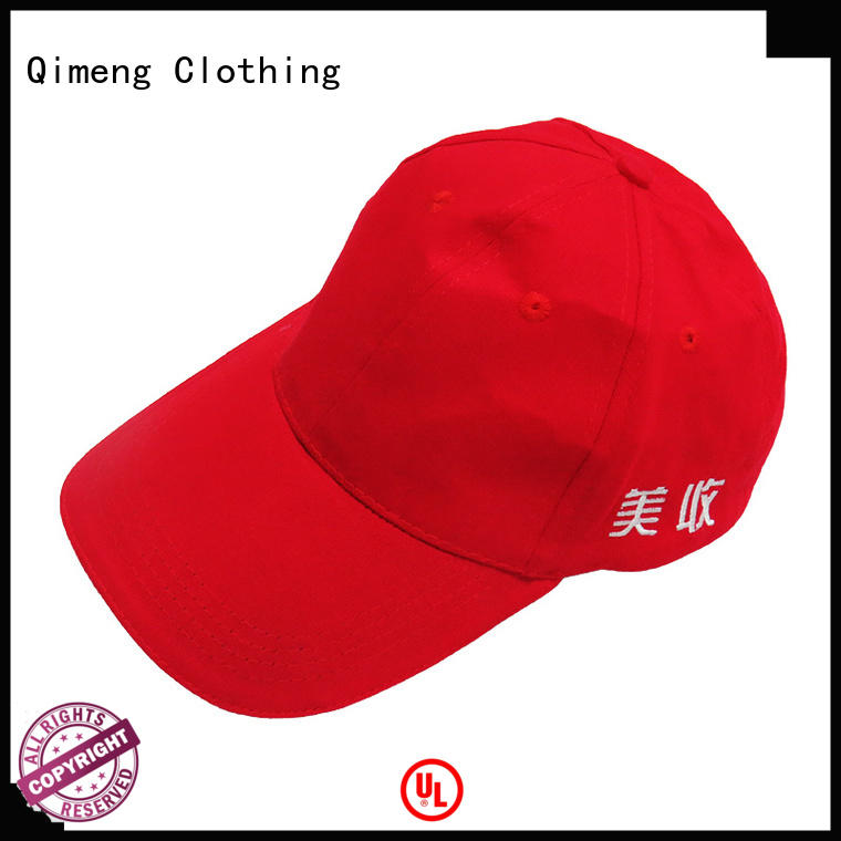 QiMeng latest-arrival cap custom with many colors for outdoor activities