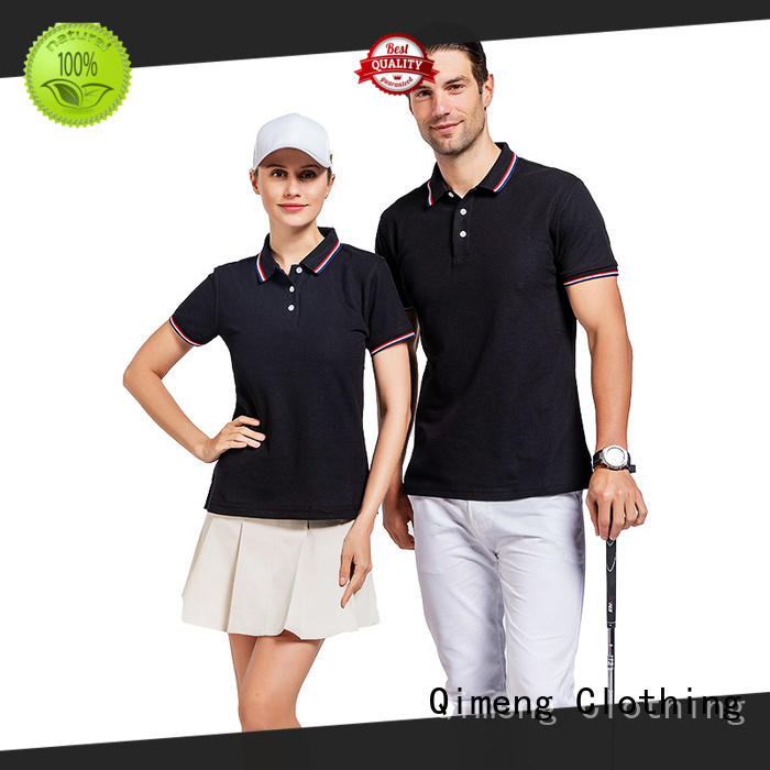 polo collared polo t shirts sale for promotional campaigns QiMeng