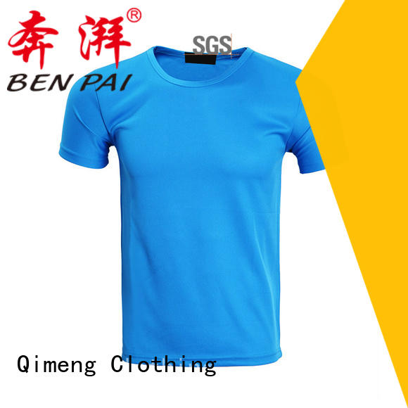 QiMeng white wholesale t shirt printing in different color
