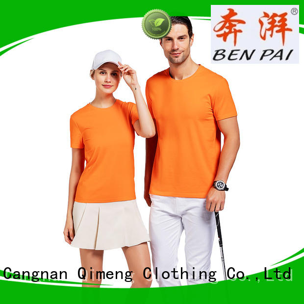 custom cotton t-shirt short for outdoor activities QiMeng