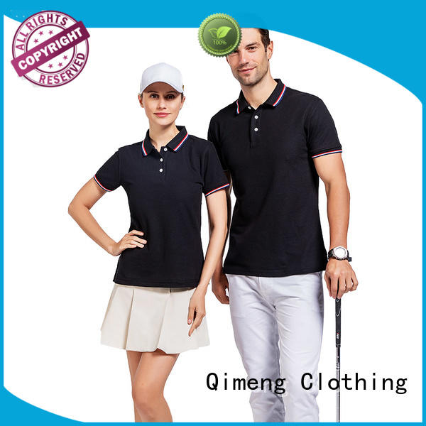 QiMeng fashion 100% cotton polo shirts with many colors  for leisure travel