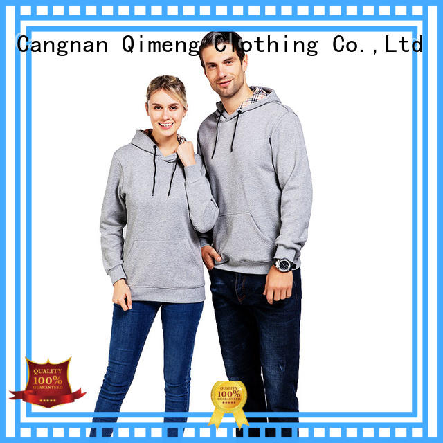 QiMeng hot-sale blank hoodies for man for daily wear