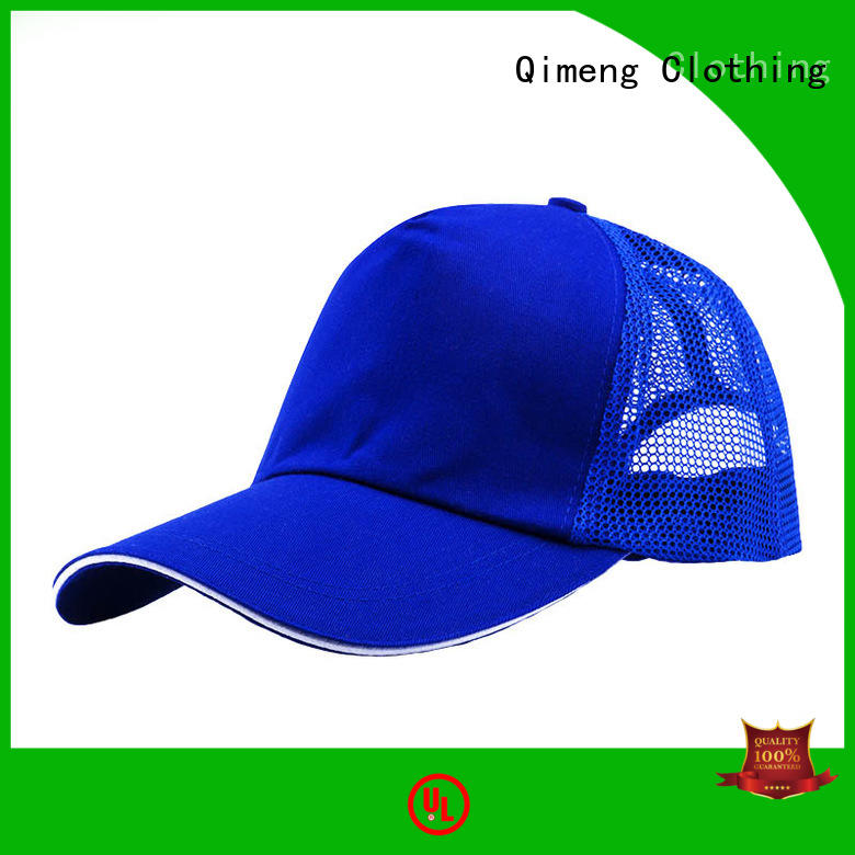 QiMeng cap 5 panel cap factory for daily wear