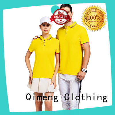 QiMeng design men polo t-shirts factory  for leisure travel