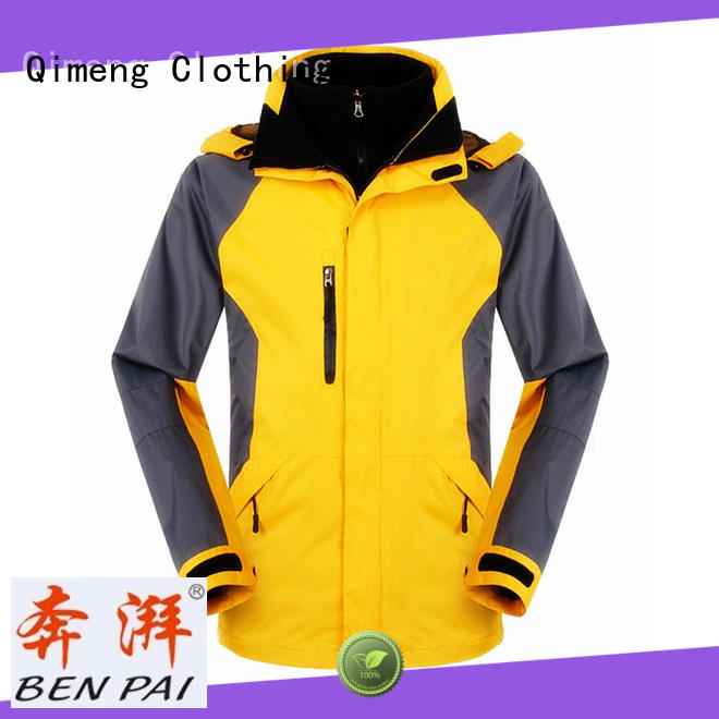 QiMeng winter outdoor jacket with many colors for outdoor activities
