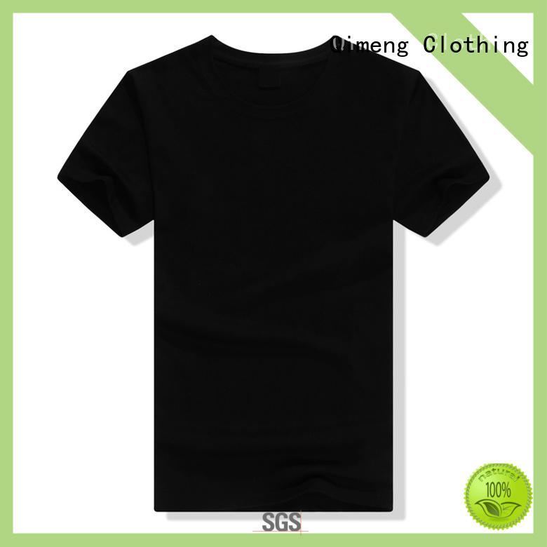 QiMeng new-selling plain t-shirts in China for outdoor activities