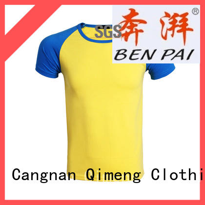 QiMeng new-selling 100% cotton t shirt printing for sporting