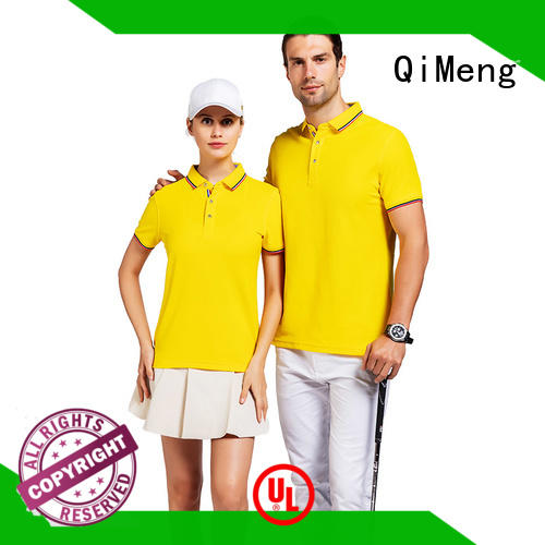 basic yellow polo t shirts cotton for daily wear QiMeng