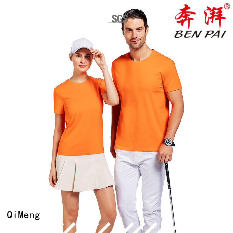 QiMeng new-coming tee shirts custom print price for outdoor activities