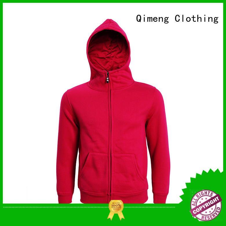 premium plain hoodies factory price for sports QiMeng