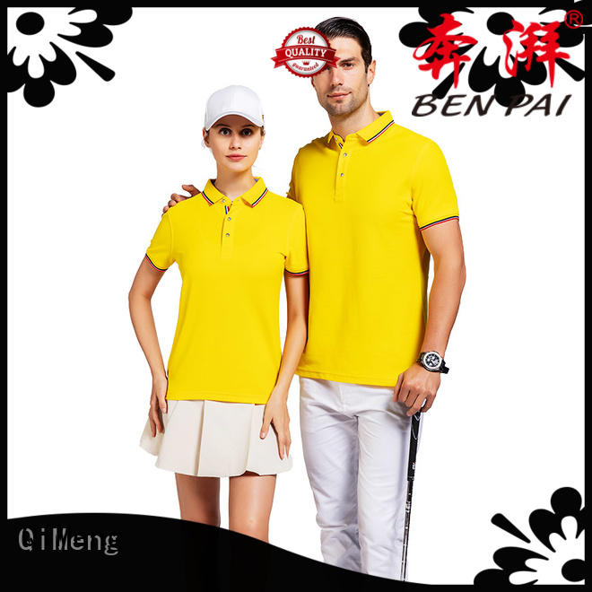 QiMeng tshirt cotton polo shirts mens in different color for team-work