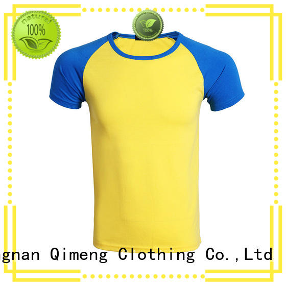 QiMeng collar tee shirts custom print for sports
