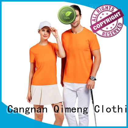 QiMeng printed branded t-shirts price for promotional campaigns