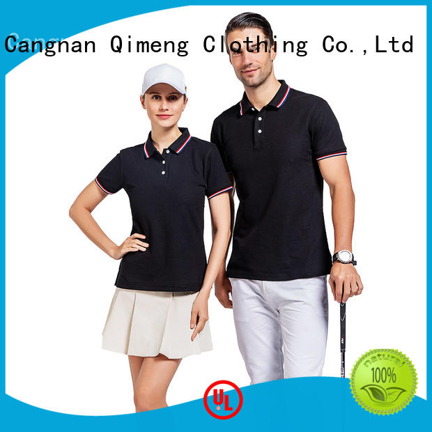 QiMeng nice polo sport shirts button design