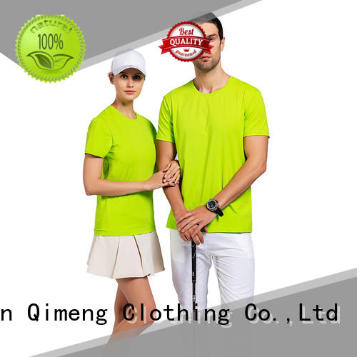 round mens white t shirts in different color for outdoor activities QiMeng