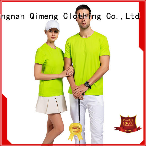 womens custom cotton t-shirt collar for sports QiMeng