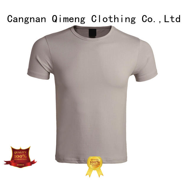 QiMeng stable plain white t shirts supplier in street