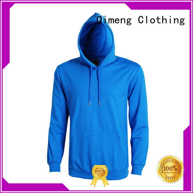 QiMeng new-coming hoodies sweatshirts men factory price for daily wear