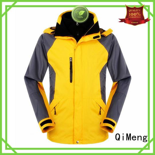 QiMeng superior waterproof hiking jacket zipper design