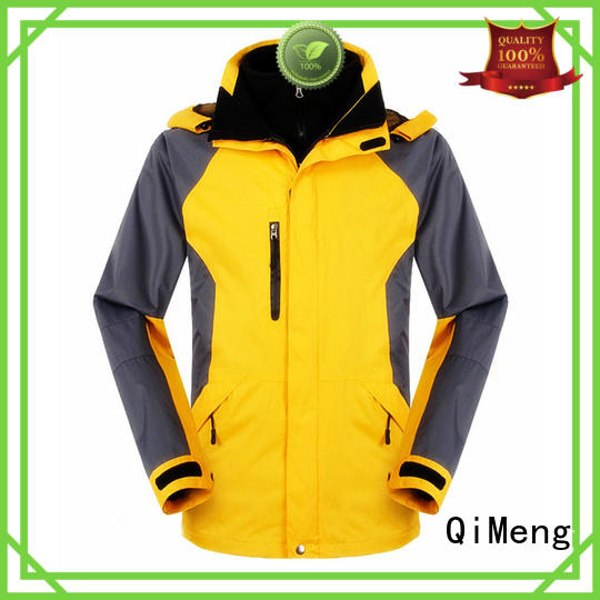 QiMeng superior waterproof hiking jacket zipper design