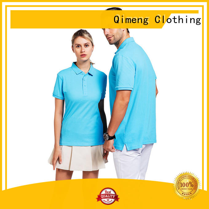 QiMeng bulk custom polo shirts clothes