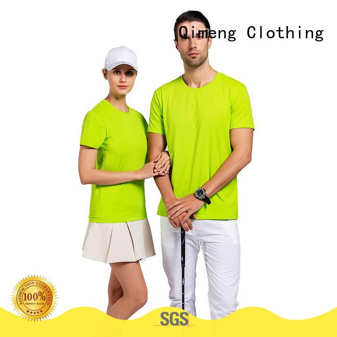 QiMeng bulk tee shirts custom print owner for daily wear