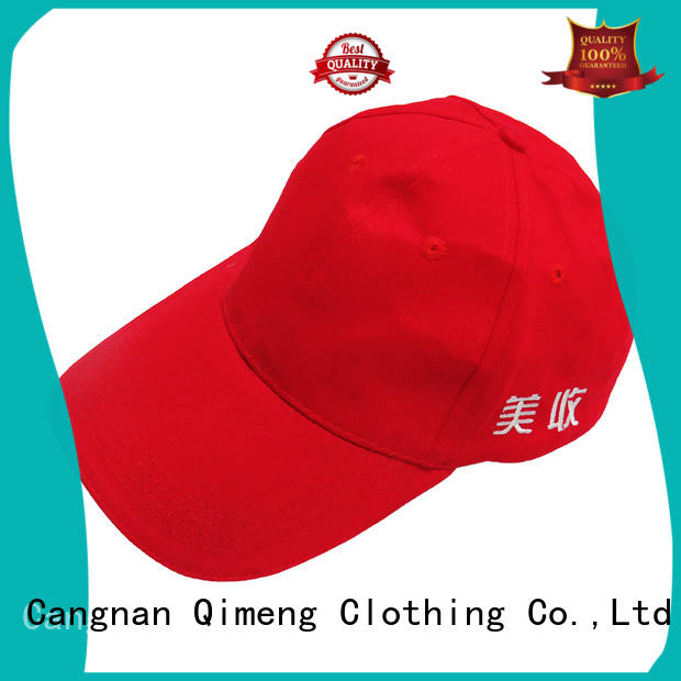 directly custom embroidered caps with good price for sporting QiMeng