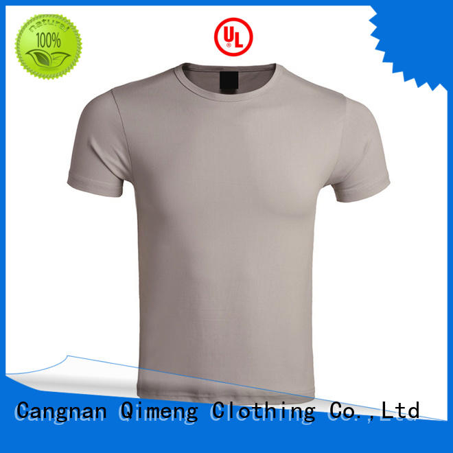 plain t shirts casual for team-work QiMeng