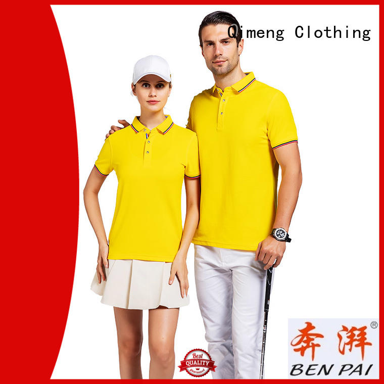 men t shirts polo button for team-work QiMeng