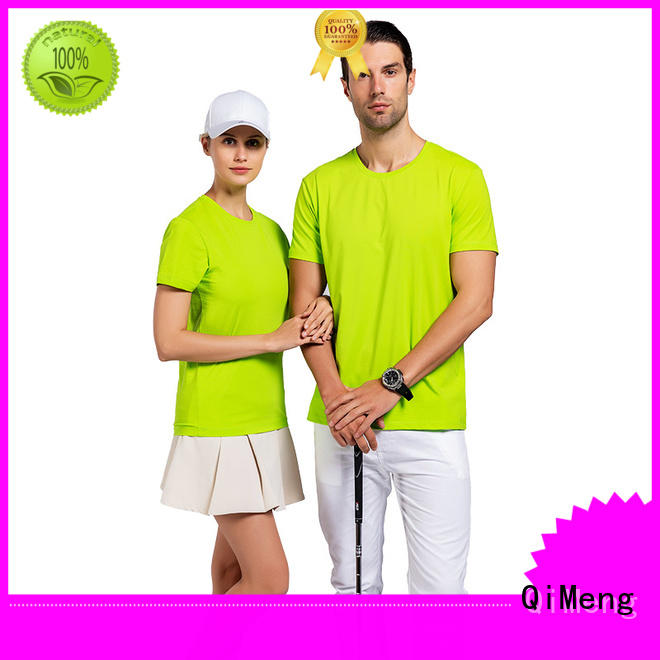 breathable screen printed t-shirts blank for outdoor activities QiMeng