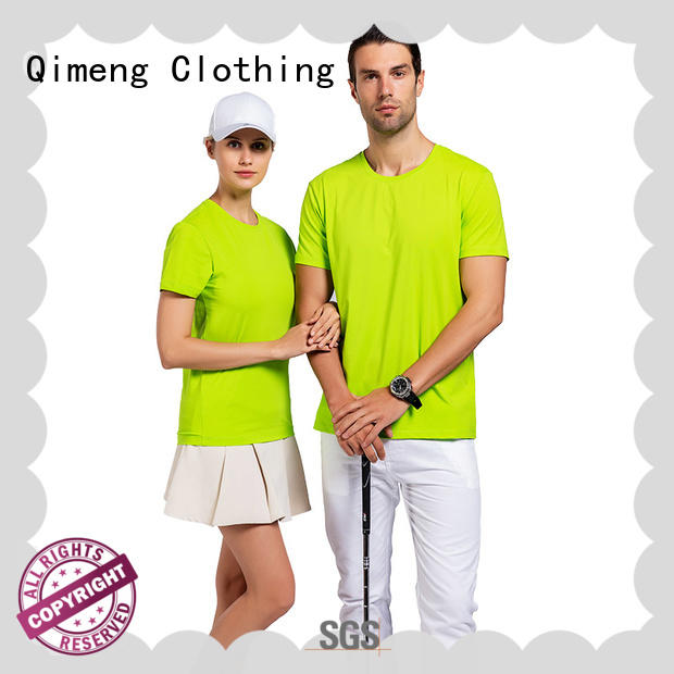 sleeve china custom t-shirts in different color for sporting QiMeng