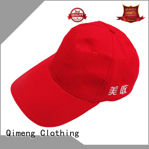 QiMeng quality custom logo cap from China in work room