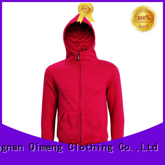 QiMeng mens sports hoodies factory price for sporting