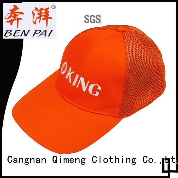 promotional sport cap design in work room QiMeng