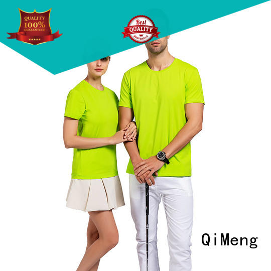 QiMeng newest womens t shirts plain in China for sporting