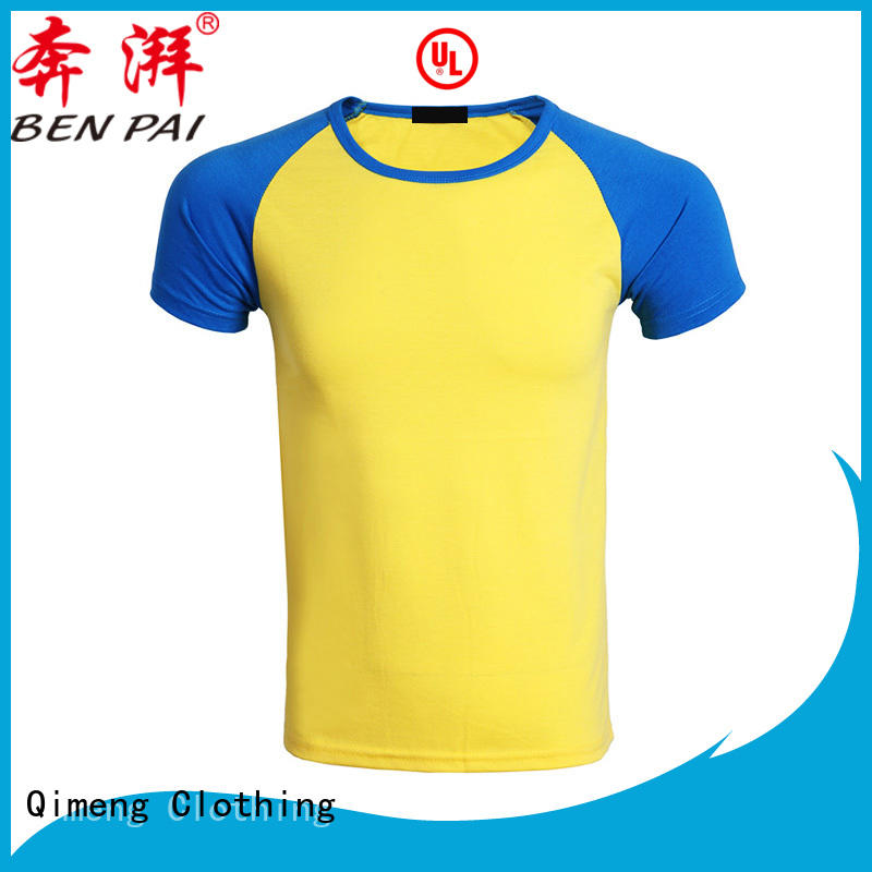 QiMeng quality t shirts cotton for sports
