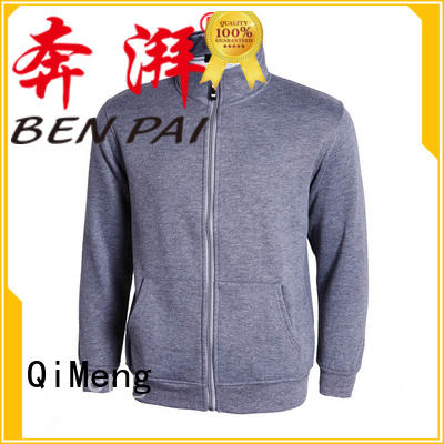 QiMeng mens blank hoodies with many colors for sporting