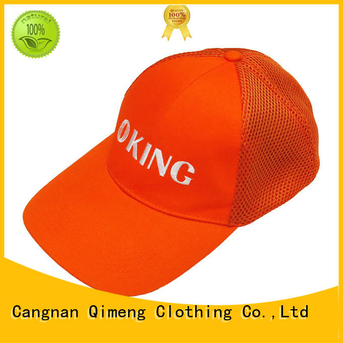 quality custom embroidery baseball cap button design for sports QiMeng